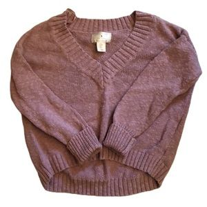 Ruby Moon 100% Cotton V-neck Sweater Size M
